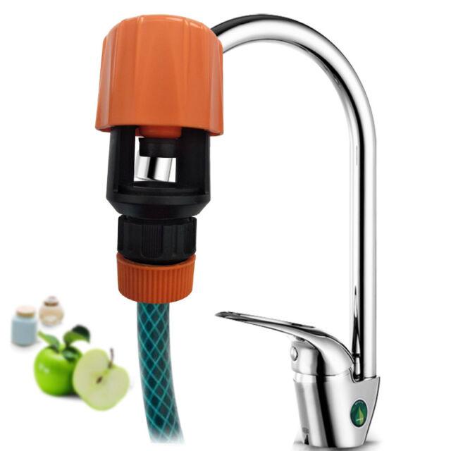 Kitchen Mixer Tap To Garden Hose Pipe Connector Adapter Indoor Outdoor Universal