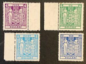 New-Zealand-Fiscal-Stamps-Original-Line-Perfs-SGF219-22-1967-MNH-AF123