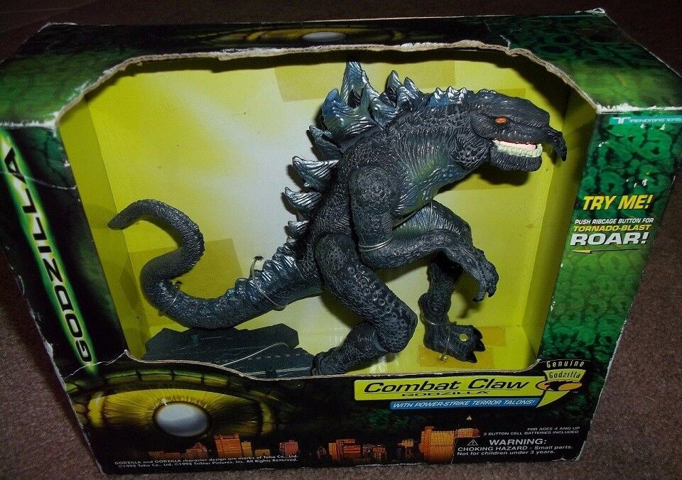 Trendmasters 1998 Godzilla combat Claw Electronic Action Figure