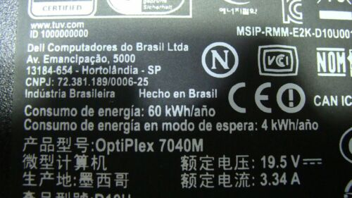 Dell Optiplex 7040M  Genuine Desktop Bottom Case D10U GX18182 40VY2 GLP*