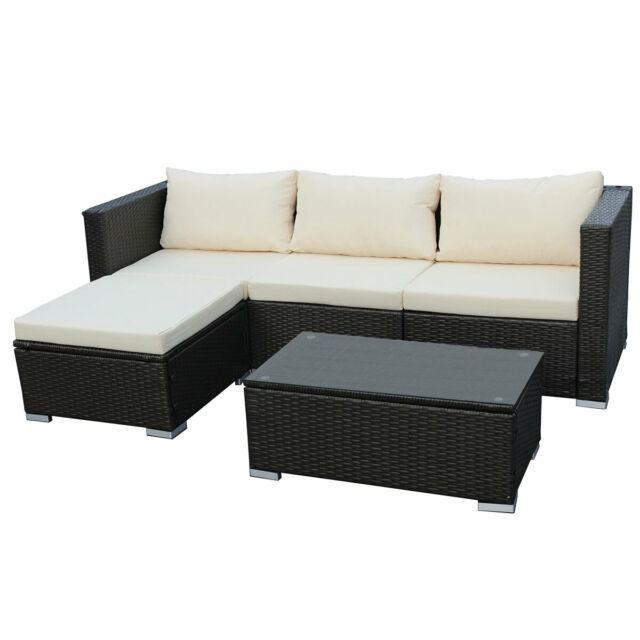 Poly Rattan Lounge Queens Sofa Gartenset Garnitur Polyrattan