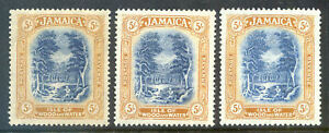 Jamaica-King-George-5th-1921-9-Pictorials-3-shades-5sh-mint-2018-10-24-04