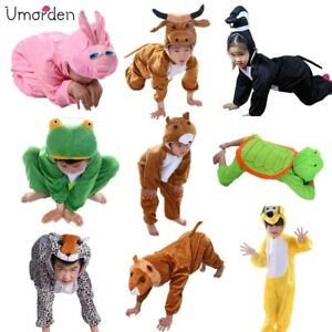 Halloween-Boys-Girls-Cartoon-Animals-Costume-Cosplay-Outfit-for-Kids-Children