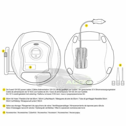 2019 Ring RTC300 12v Plug Digital Gauge Car Tyre Air Compressor Inflator Pump