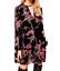 AU-seller-Black-vintage-chic-hippie-floral-velvet-v-neck-long-blouse-mini-dress thumbnail 1