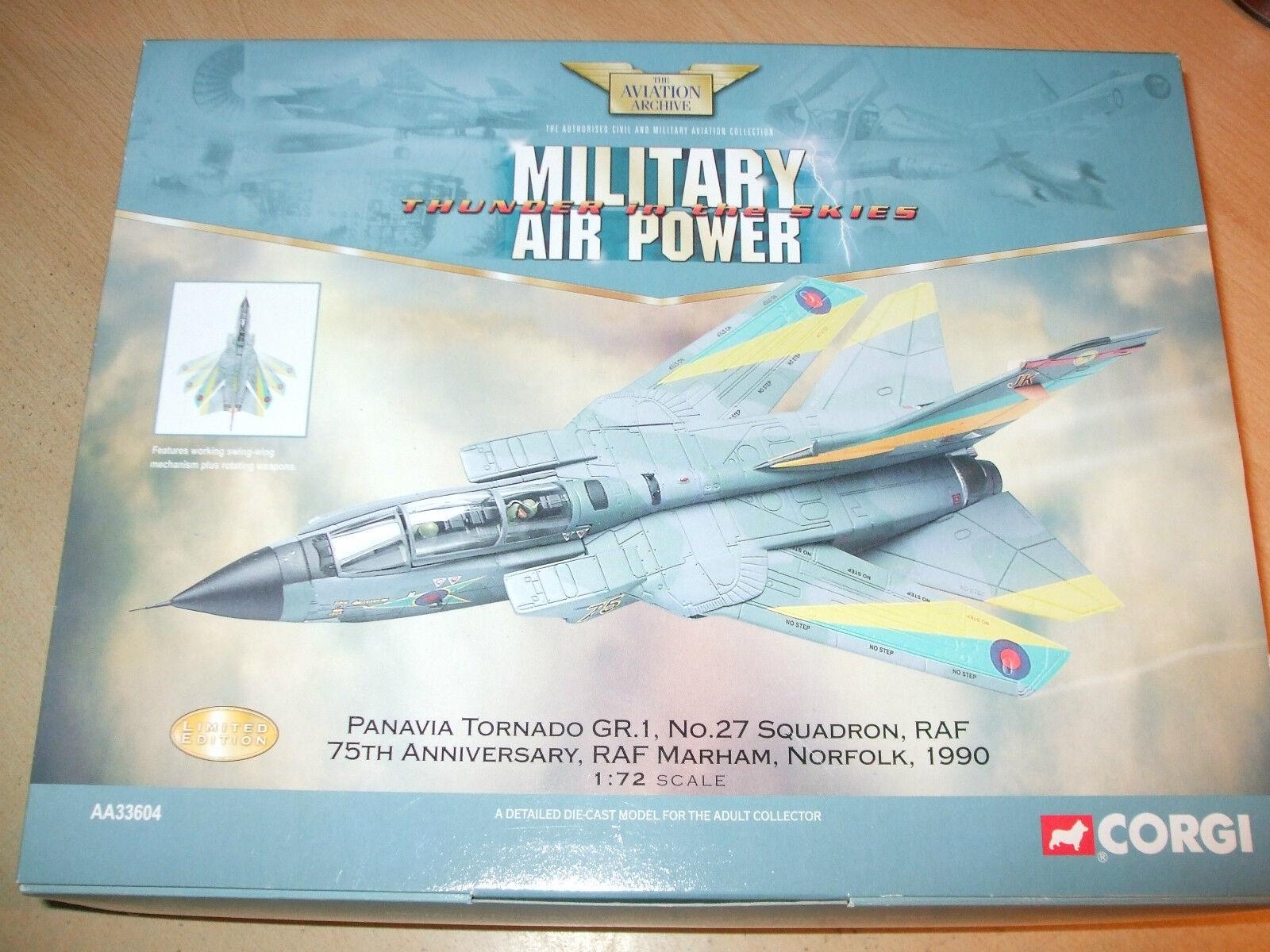 CORGI-Panavia Tornado GR.1, No.27 SQD. - RAF 75th ANNIVERSARIO - 1.72 - AA33604