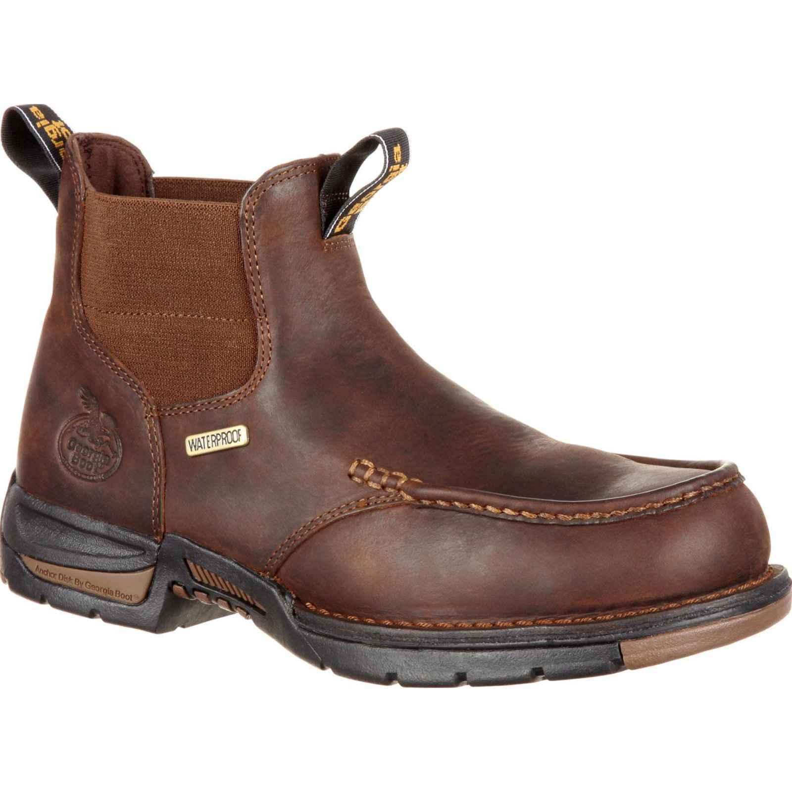 Georgia GB00156 Boot Men's Brown Athens Chelsea Waterproof Work Boot