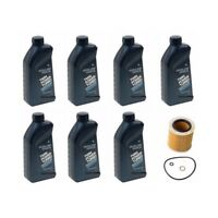 7-quarts Genuine Bmw Synthetic Motor Oil 5w 30 / 5w-30 + Opparts Oil Filter