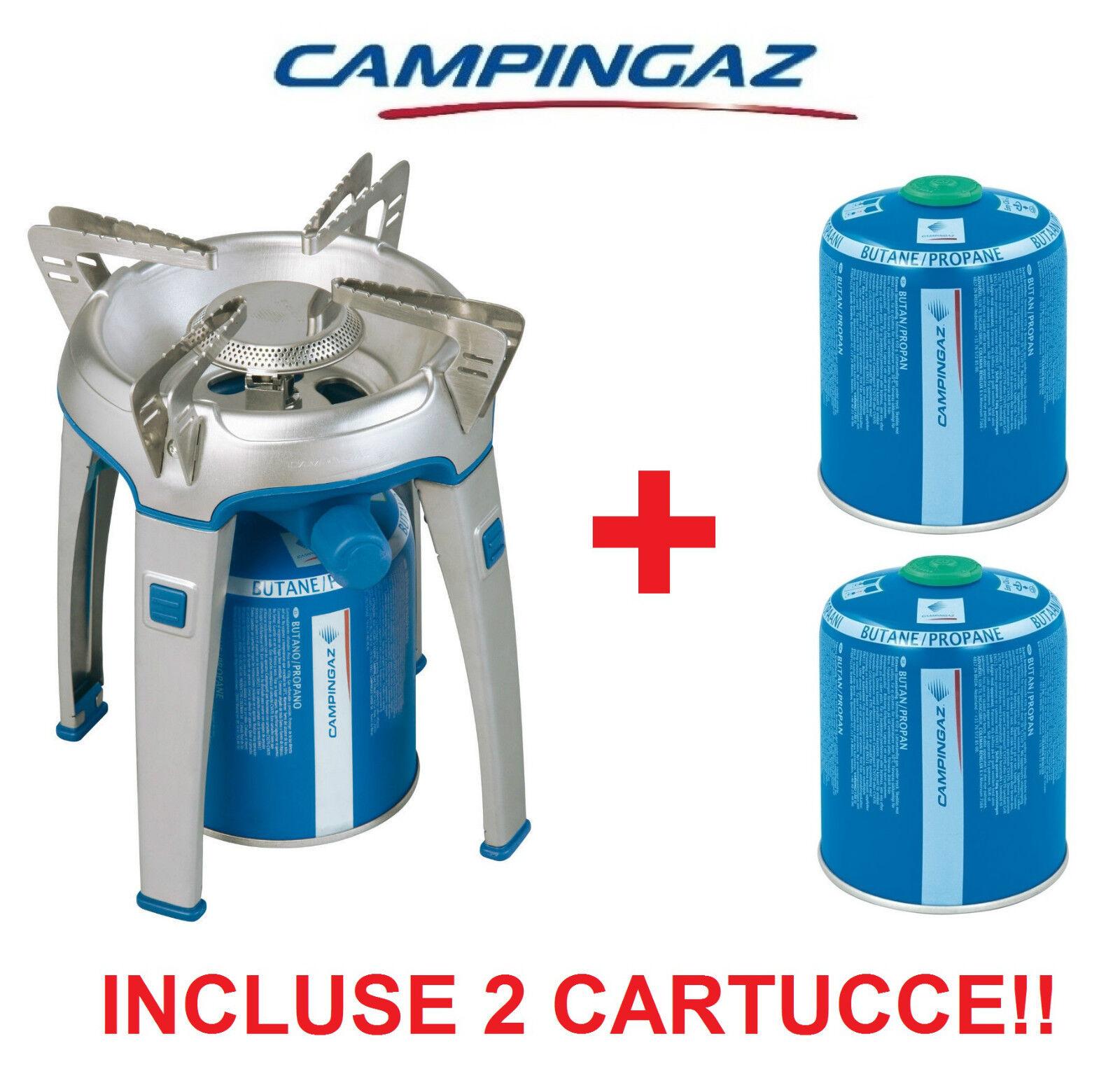 FORNELLO A GAS BIVOUAC - CAMPINGAZ + 2 CARTUCCE CARTUCCE CARTUCCE GAS CV470 + IDEALE PER CAMPEGGIO d3893b