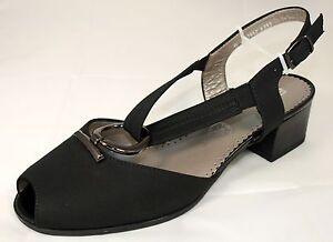promo code 83dd0 58b54 Details zu Ara Schuhe Damen Sandalen Slingbacks Sandaletten schwarz Weite H  Neu 159/8