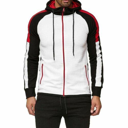 Men Tracksuit Jogging Top Bottom Sport Sweat Suit Hoodie Trousers Pants //Set