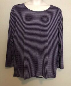 bb627f46576 NWT) Women's Ideology Plus Size 3X Purple Striped Cut-Out Back Long ...