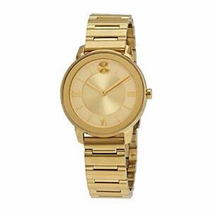 Movado Bold Quartz Movement Gold Dial Ladies Watches 3600591