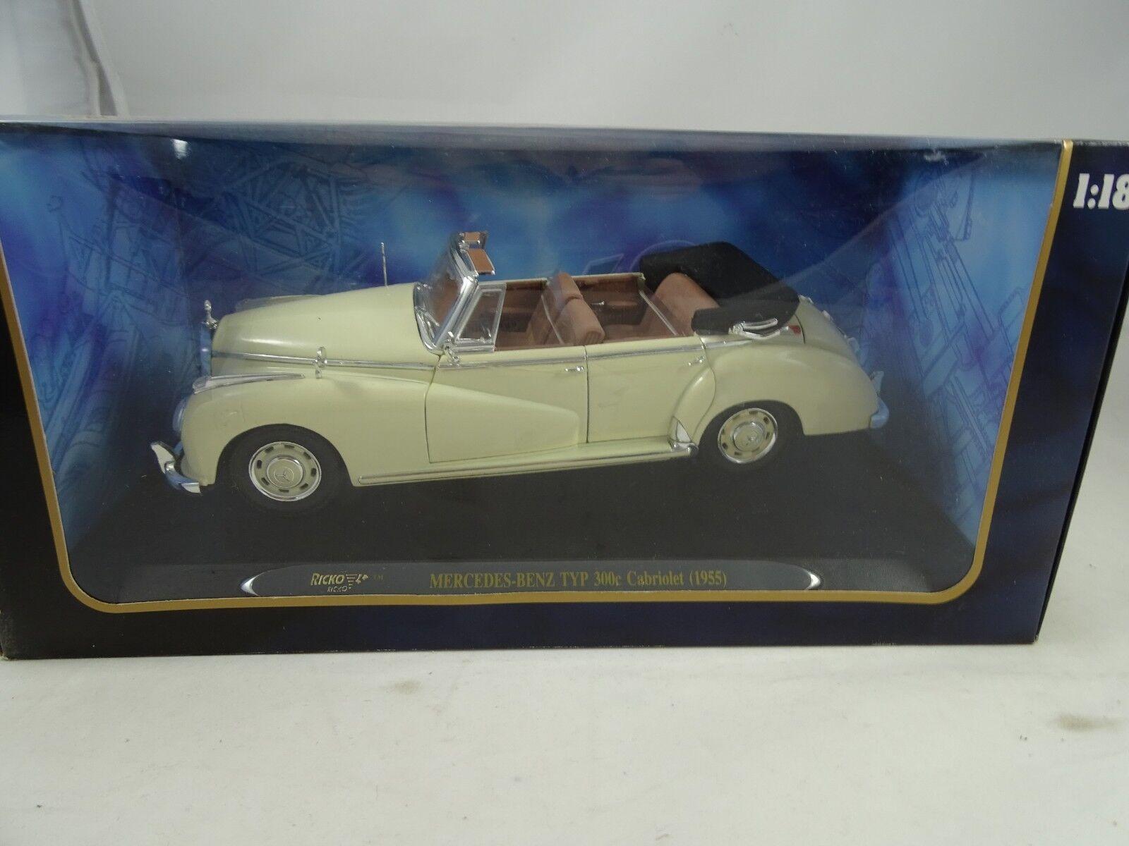 para proporcionarle una compra en línea agradable 1 18 Ricko  32127 Mercdes-Benz Tipo Tipo Tipo 300C Cabriolet 1955 Crema - Rareza Nuevo    marca