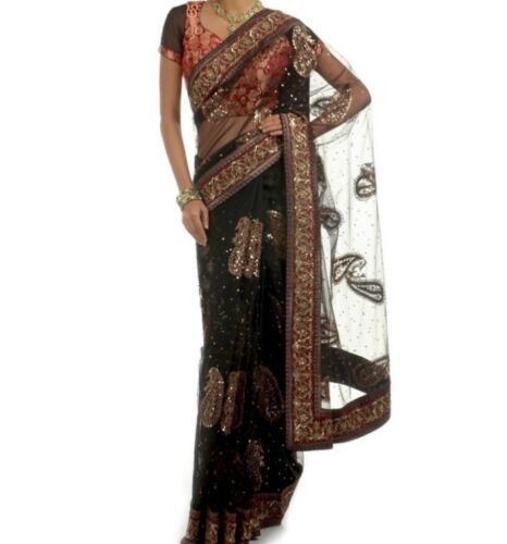Black Ritu Kumar Saree and Blouse - image 1