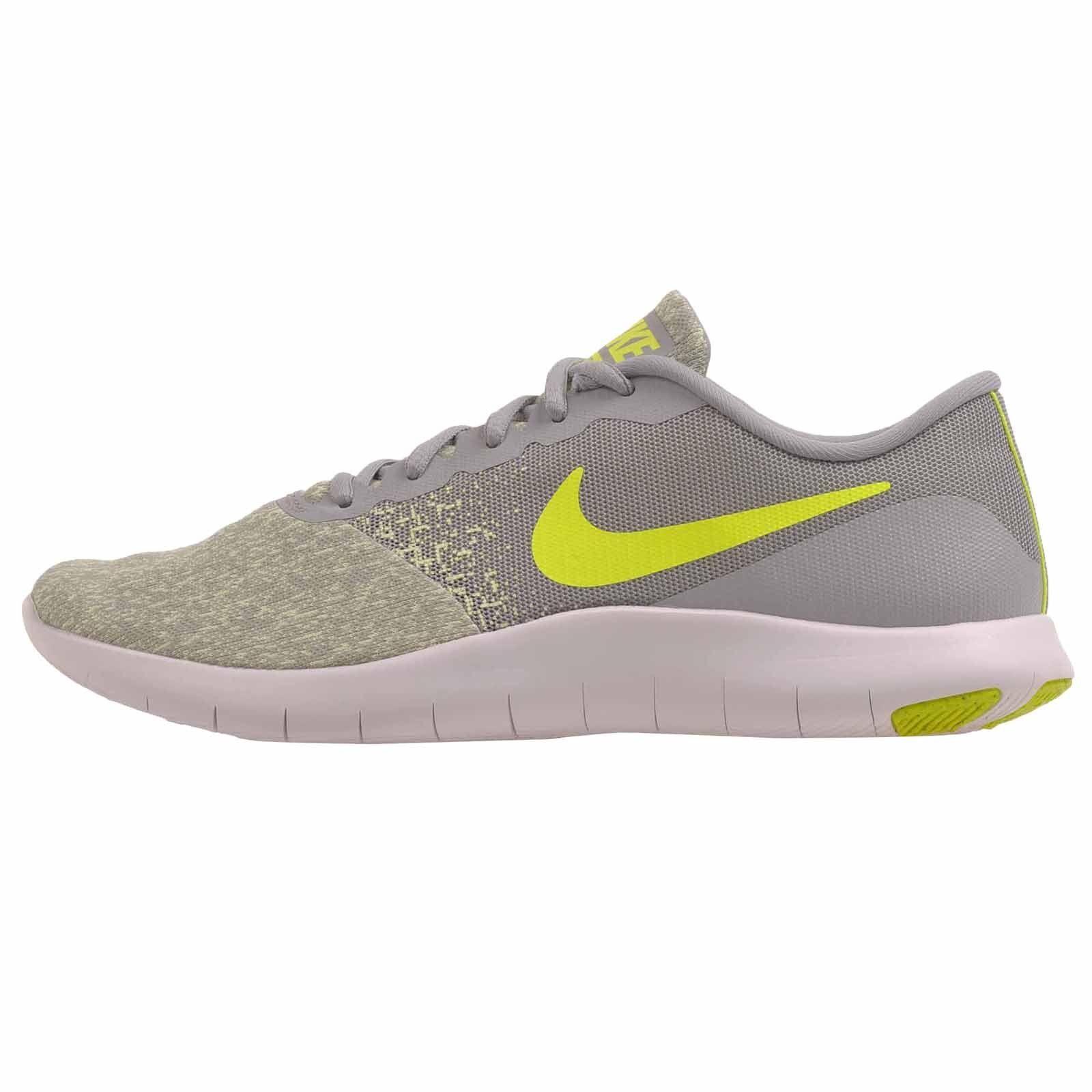 NIKE Women's Flex Contact Running Shoe Wolf Grey/Volt-barely Volt 8 B(M) US