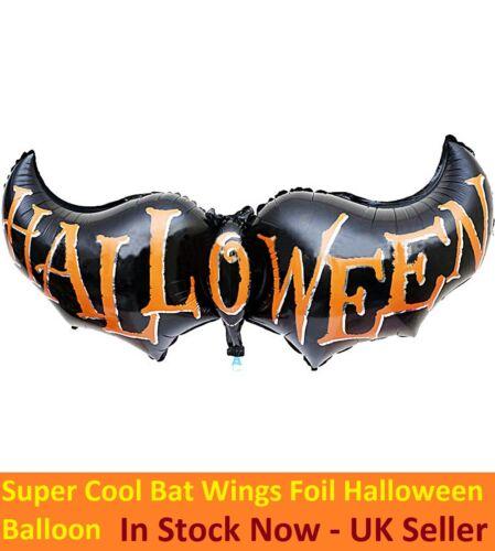 New Large Halloween Bat Wings Shape Foil Balloon Party Decoration Orange /& Black