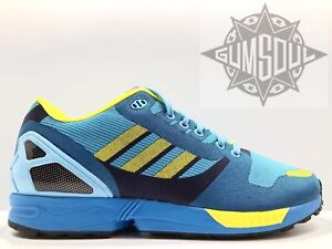2e63d0426 ADIDAS ORIGINALS ZX FLUX WEAVE OG AQUA BLUE PURPLE YELLOW M21788 sz ...