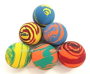 6 SKY BOUNCE RAINBOW MIX COLOR - HAND BALLS / RACKET BALL NEW