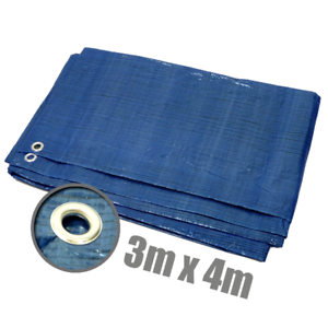 Lona cobertora 3x4m azul//verde 12qm lona de cobertura tejidos plane ojales