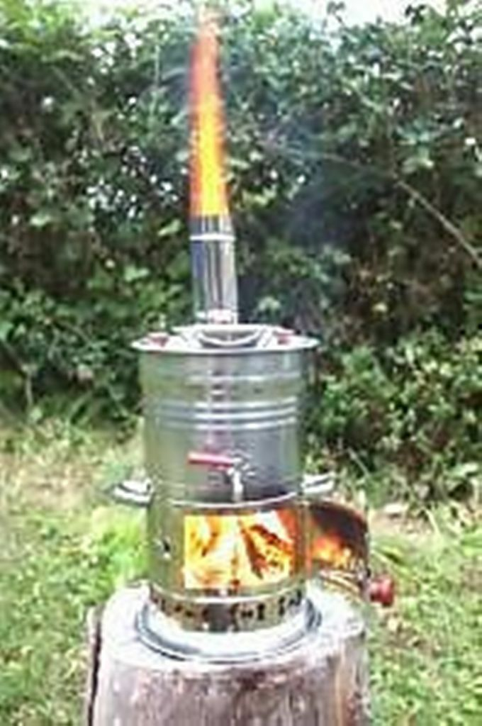 BOAT CAMPING TENT CARAVAN TEA KETTLE HOT WATER POT HEATER WOOD STOVE BUILTIN TEA POT WATER f0bddc
