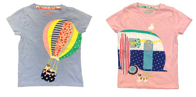 Girls MINI BODEN top t-shirt long sleeve ex store age 2 3 4 5 6 7 8 9 10 11  NEW