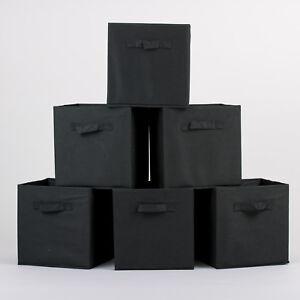 6X-Foldable-Canvas-Storage-Collapsible-Folding-Box-Fabric-Cube-Cloth-Basket-Bag