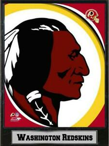 Washington-Redskins-Logo-Holz-Wandbild-30-cm-Plaque-NFL-Football-Neu