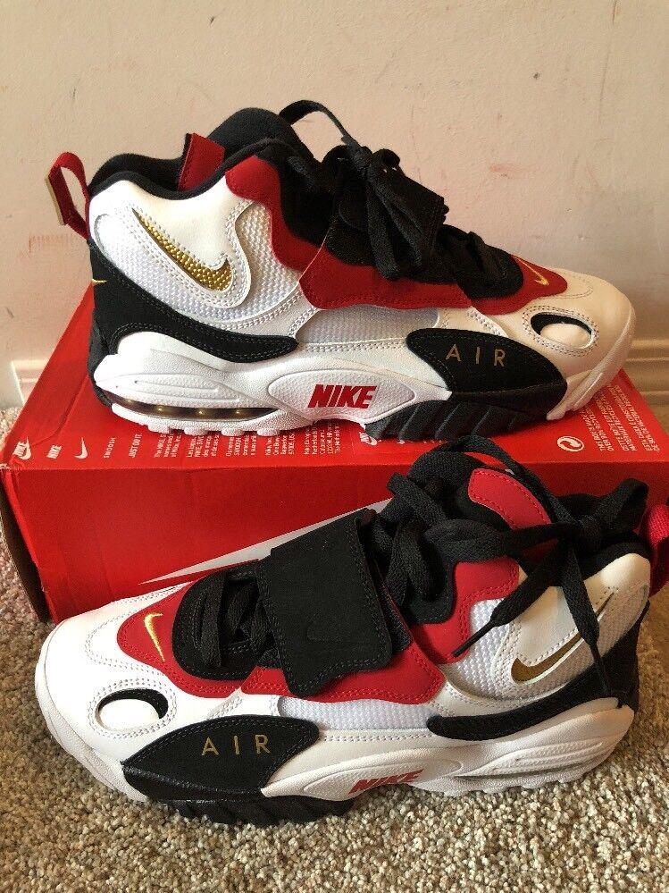 official photos 86743 ef09a Nike Air Max Speed Turf 49ers 2018 White Black Black Black Red Diamond  525225-101