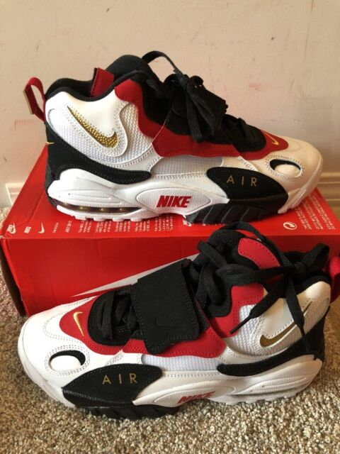 3f359c58b0 Nike Air Max Speed Turf 49ers 2018 White Black Red Diamond 525225-101 Size  11