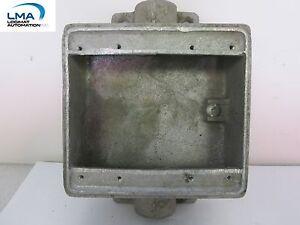 LN-fsc-OUTLET-BOX-STEEL-IRON-RECEPTACLE-2-GANG-1-2-034-NPT-2-port