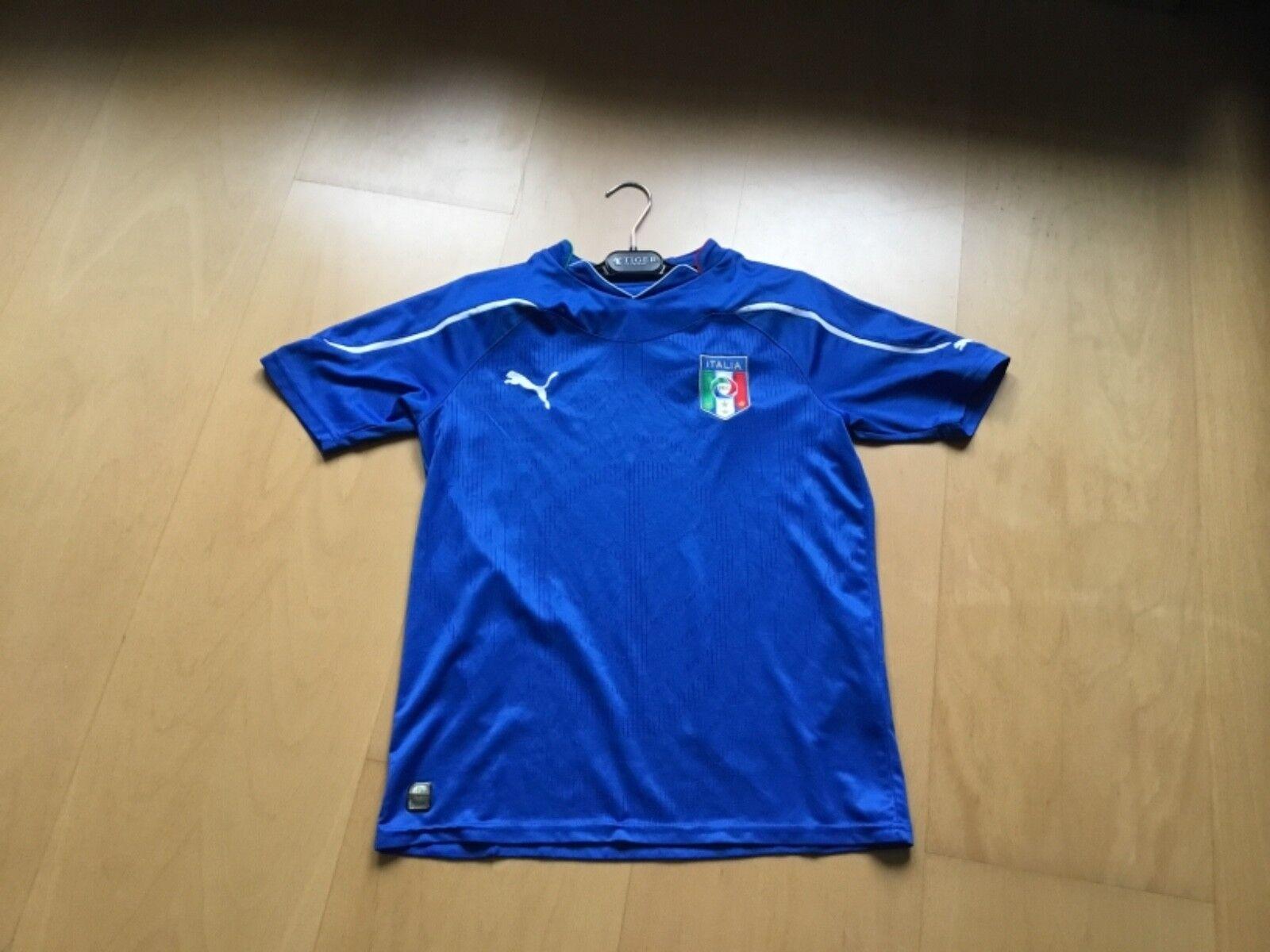 100%ORIG PUMA FUßBALL ITALIA ITALIA ITALIA NAZIONALE TRIKOT MAGLIA AZZURRA YXL UK 32 34 164 14 4906c6