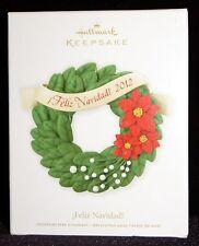 Hallmark Keepsake - Feliz Navidad! Wreath Ornament NIB Dated 2012