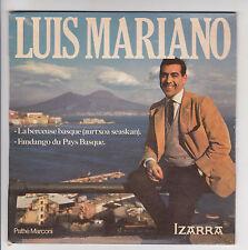 Luis MARIANO 45T EP FANDANGO DU PAYS BASQUE - Pub Liqueurs IZARRA - PATHE 68673