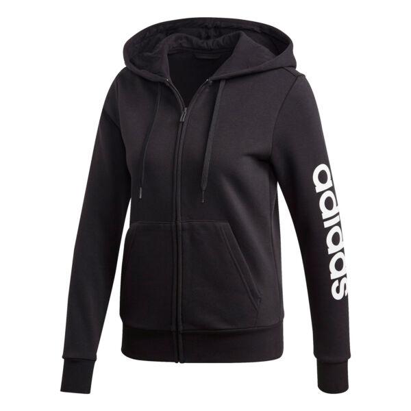adidas neo Damen Sweatjacke W E LIN FZHD FL schwarz/weiß (DP2417)