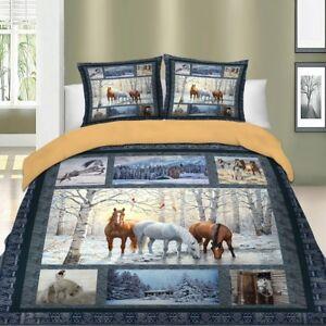 Horse-Duvet-Cover-Set-For-Comforter-Twin-Full-Queen-King-Size-Bedding-Set-Animal