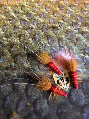 V Fly Signature Ultimate Red Francis Copper Salmon Tube Flies 1//2 1 /& 1.5 Inch