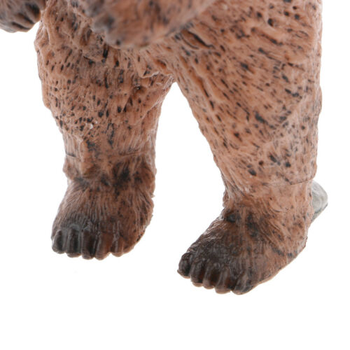 Realistic Standing Brown Bear Wild Animal Figurine Educational Toy Ornament