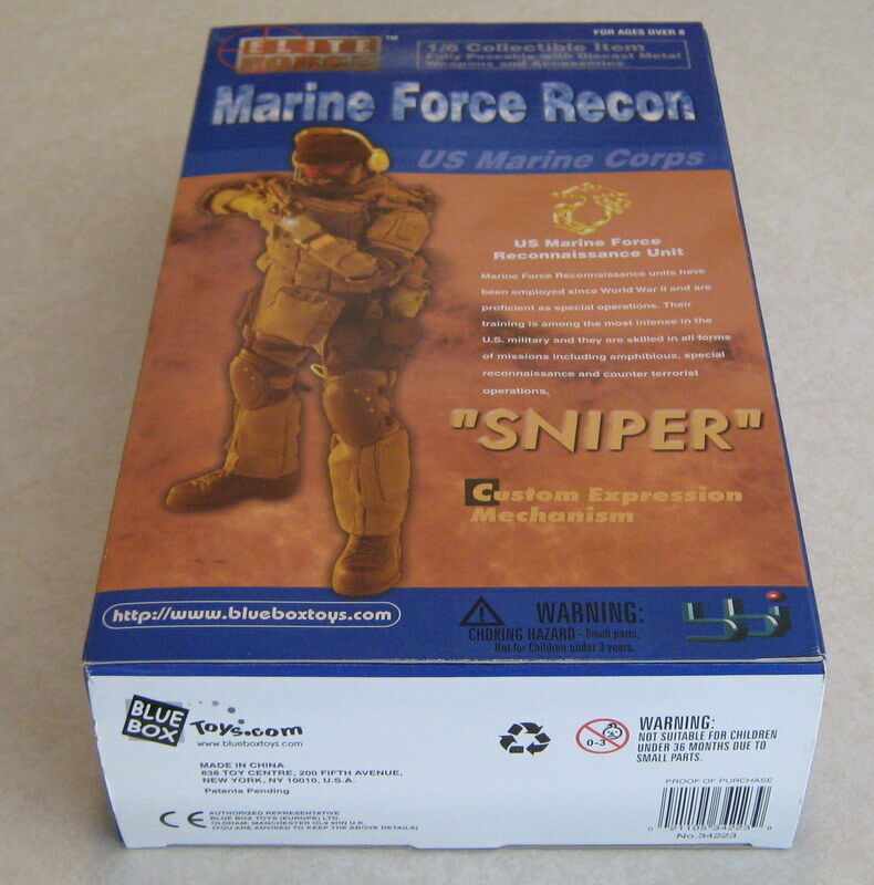 bluee Box Toys 1 6 Elite Force Marine Force Recon Sniper Action Figure MIB