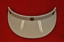 NOS Vintage White Helmet Visor, AHRMA, Buco Bell Shoei