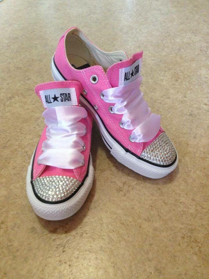 Pink Customised Converse Größe 4 5 6 7 8