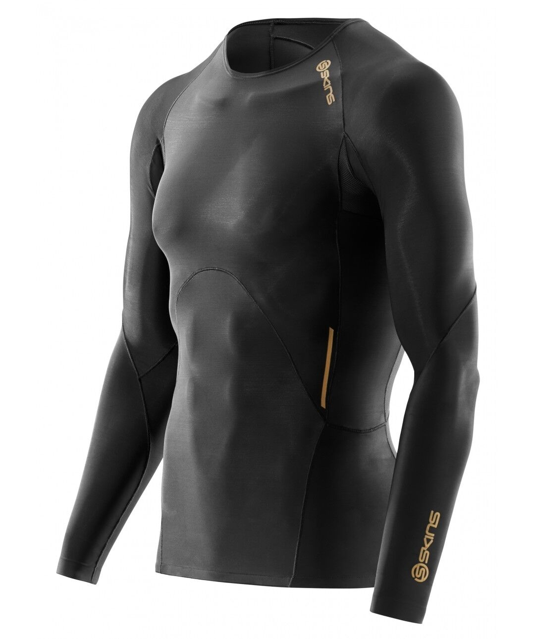 NEW  Skins Compression A400  Herren Long Sleeve Top (Gold) + FREE AUS DELIVERY