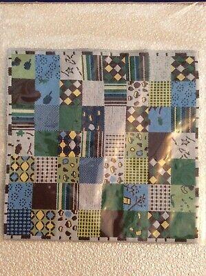 1/12th Casa Delle Bambole Blu Design Patchwork Tappeti Tappeto Nuovo Di Zecca-mostra Il Titolo Originale Buono Per Succhietto Antipiretico E Per La Gola