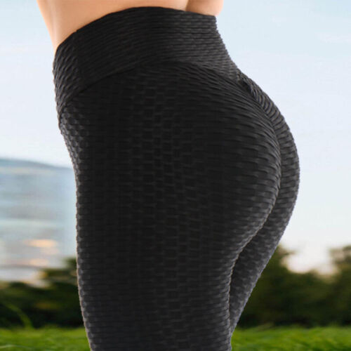 Womens Compression Yoga Capri Sports Gym Fitness Run Butt Lift Booty Pants X339
