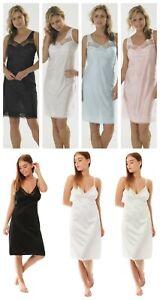 "Ladies Black//White Embroidered 26/"" Half Slip 10-12,14-16 Plus Size 18-20,22-24"