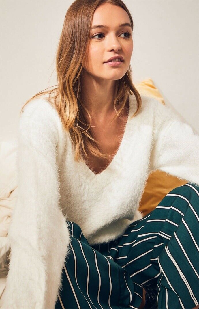 NWT Somedays Lovin Heartbreaker Sweater XS Winter White