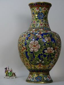 Vaso 51cm Bronzo Cloisonne Cloisonnè Giappone Cina Sc Impero 1800 Xix Deco Russo Attractive And Durable Antiques Other Asian Antiques