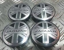 New 4pcsx59MM Wheel Center Caps HUB UNION FLAG For JAGUAR -XJ XJR XJ6 XF X SType