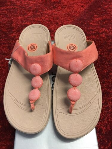Fit Flop Women's Petra Sugar Orange Sandals UK6
