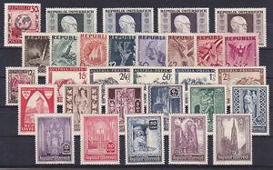 Osterreich-Jahrgang-1946-postfrisch-30-Werte